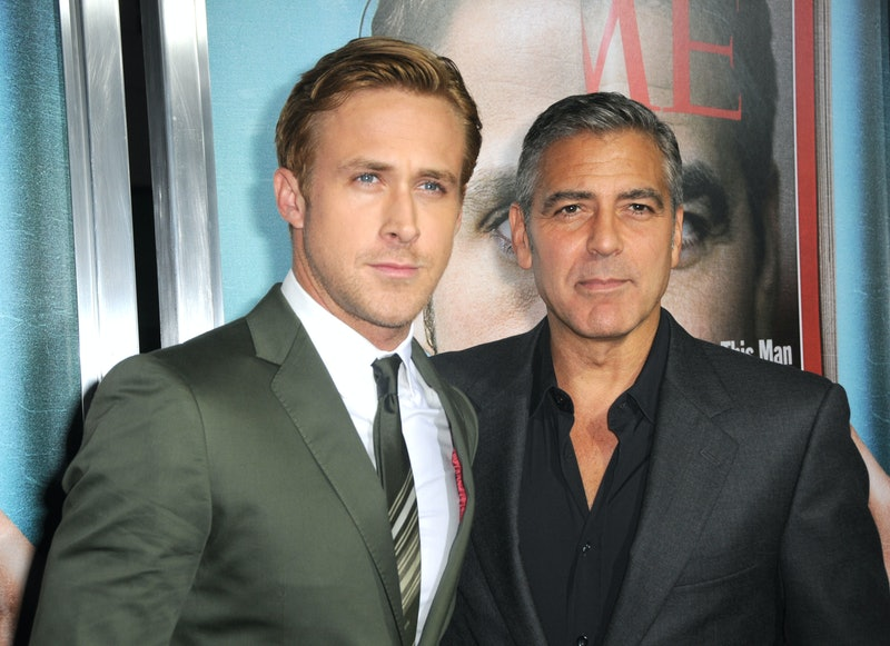 Ryan Gosling and George Clooney posing together