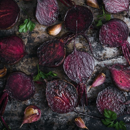 Roasted beetroot makes for a great addition to a warm salad recipe