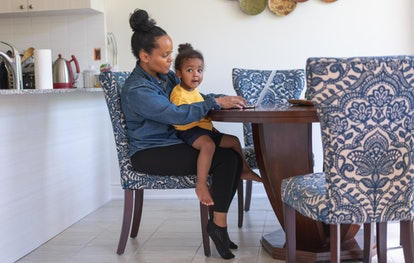 Parents working from home are being interrupted at least 25 times per week.
