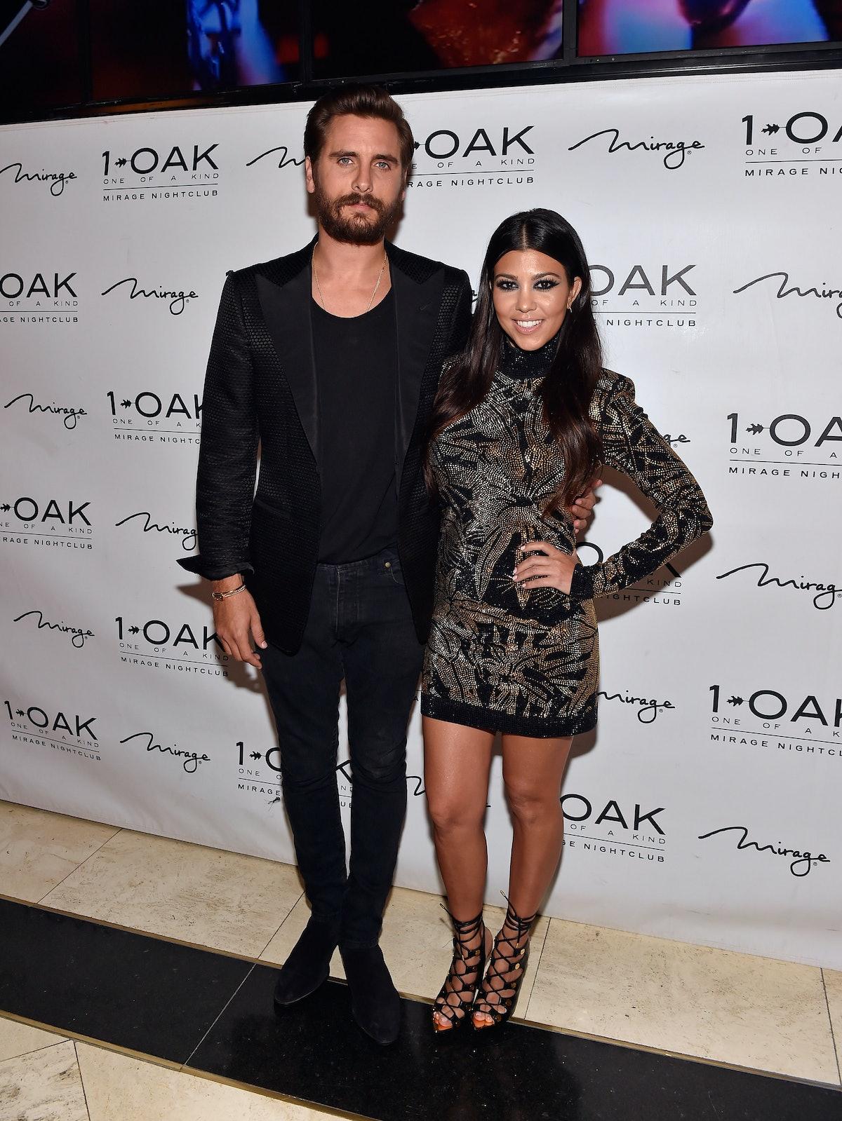 Scott Disick and Kourtney Kardashian attend an event at 1Oak.