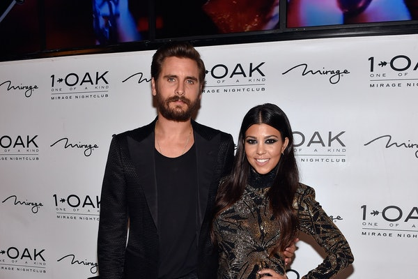 Scott Disick and Kourtney Kardashian attend an event at 1Oak.