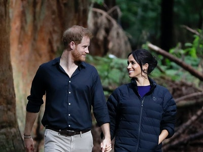 """In an interview with """"Time"""" magazine's CEO, Meghan Markle and Prince Harry discussed how they're embracing the extra time they're getting to spend with Archie as a result of the coronavirus pandemic."""