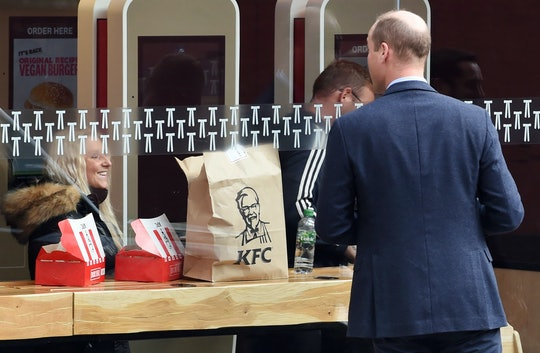 Prince William was gently teased by KFC.