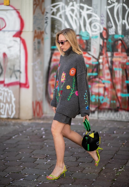 street style loungewear knit shorts