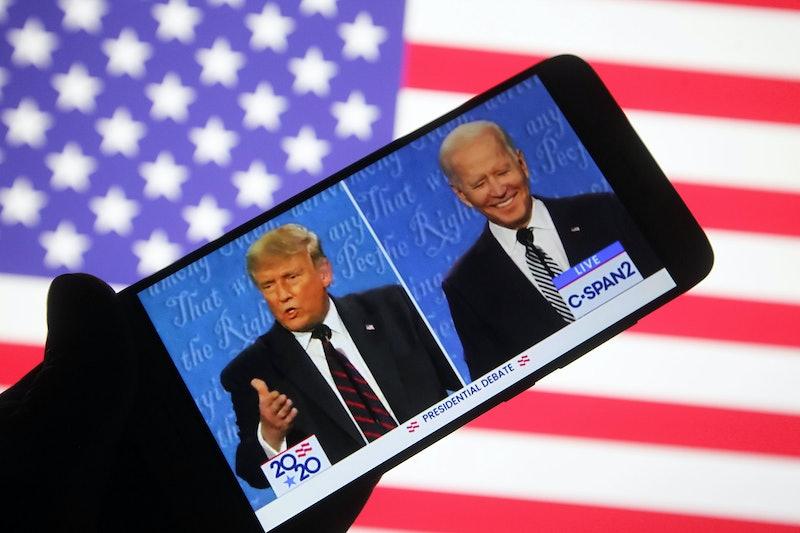 Watching the presidential debate via cell phone