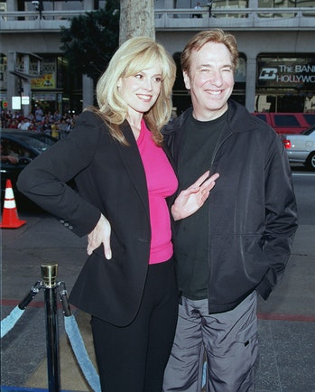 Signourney Weave and Alan Rickman at the film's world premier.
