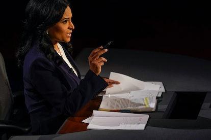 Kristen Welker moderating the final 2020 presidential debate
