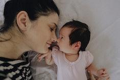 new mom and newborn