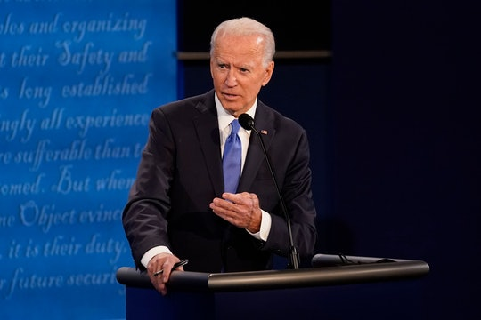 While discussing his plans for health care reform during the final presidential debate of the 2020 race, Biden sought to remind families of the importance of affordable health care.