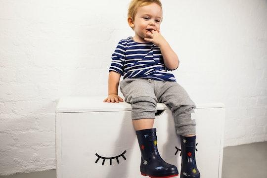 toddler wearing sweatpants
