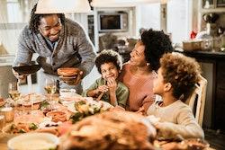 family at thanksgiving dinner