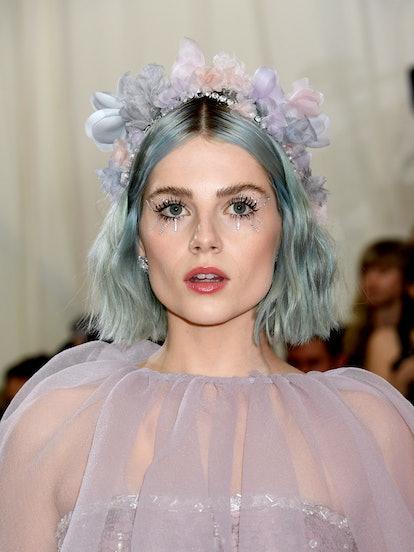 Boynton wore bejeweled makeup during the 2019 Met Gala.