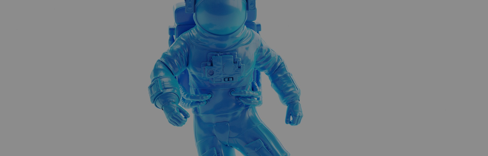 A plastic astronaut