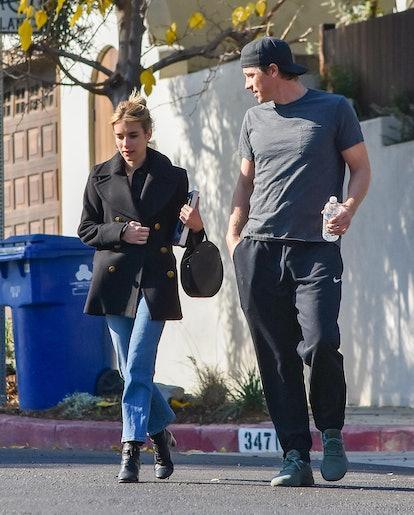 Emma Roberts and Garret Hedlund go for a stroll.
