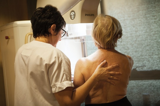 Experts say any surface changes or skin texture changes in your breasts should be evaluated.