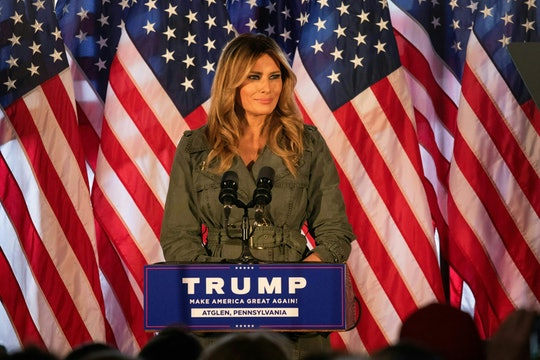 While speaking to voters in Pennsylvania on Tuesday, Melania Trump claimed Democrats were setting a bad example and children watching politics deserved better.