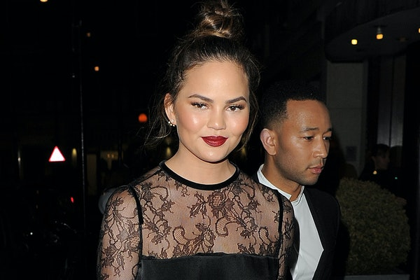 Chrissy Teigen steps out with John Legend.