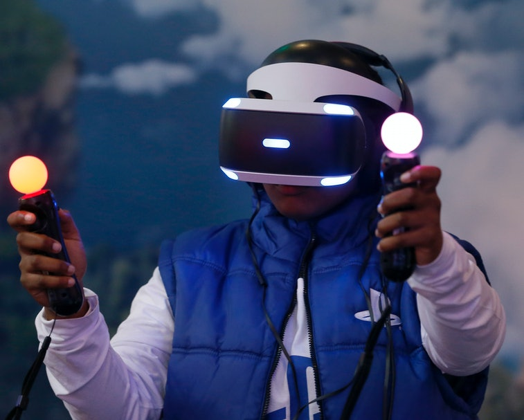 PlayStation VR headset.