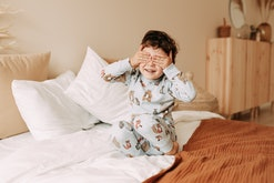 Experts say there's no real trick to waking a sleeping toddler, but you can get them excited.
