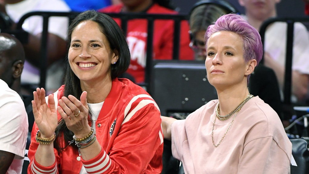 Megan Rapinoe and Sue Bird's engagement photo is too cute.