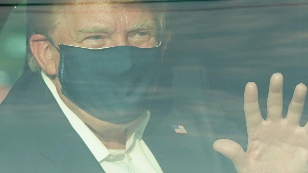 People aren't happy Trump broke quarantine to greet supporters.