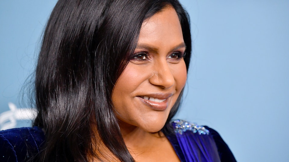Mindy Kaling is voting with her daughter Kit in mind.