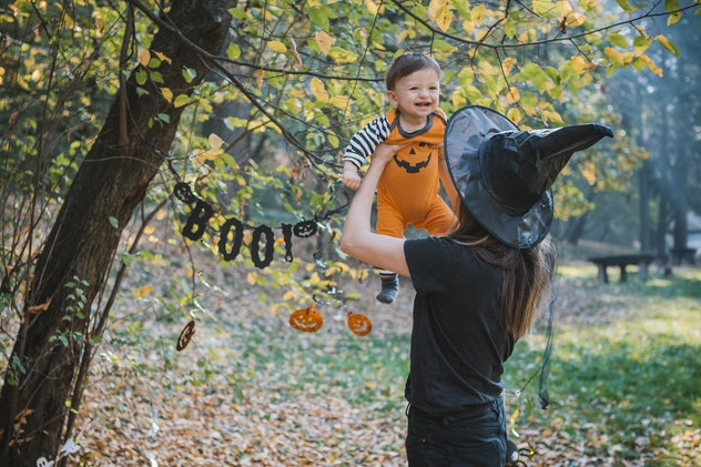 Another old wives' tale about Halloween is that you could curse your baby if they're born on the hol...