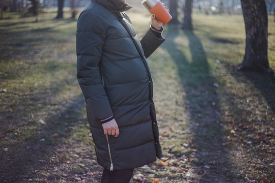 pregnant woman maternity coat