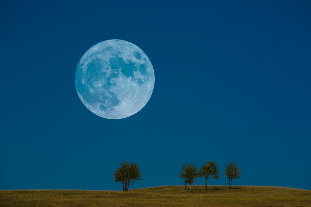 The next blue moon, happening on Aug. 22, 2021.