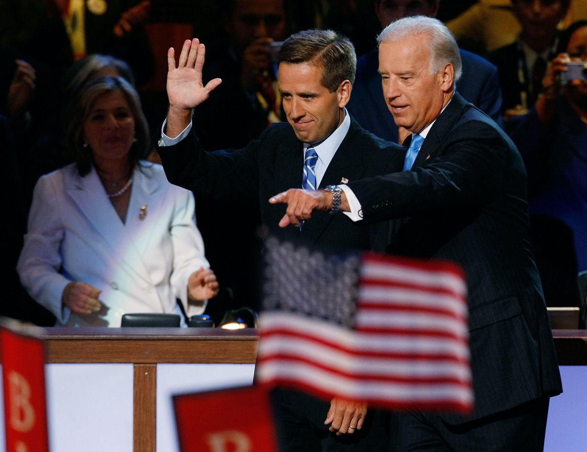 Kamala Harris' recounted her friendship with Beau Biden as she accepted the role of Joe Biden's running mate.