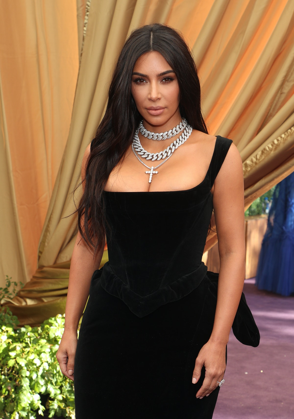 Kim Kardashian dyed her hair red in 2020.