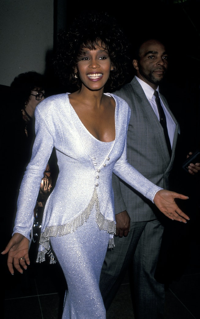 Whitney Houston at the 1990 American Cinema Awards.
