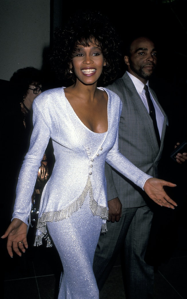 Whitney Houston at the 1990 American Cinema Awards.