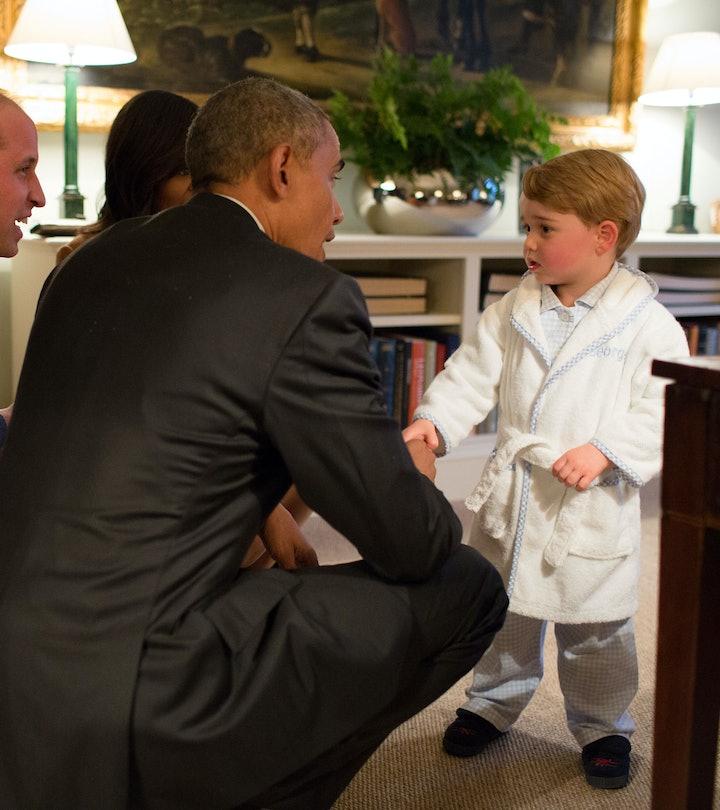 Prince George meets President Obama.