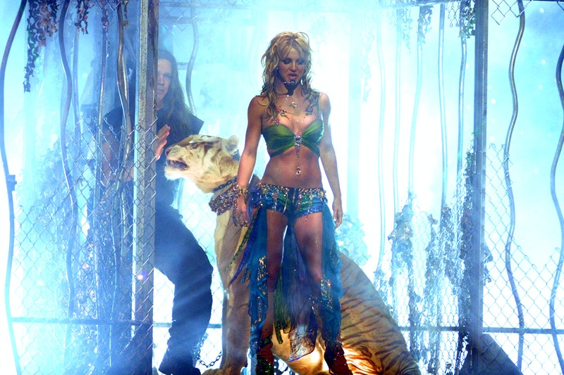 Britney Spears won't perform unless her father is removed as her conservator. Photo via Getty Images.