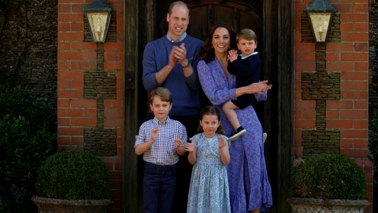Kate Middleton fills her shelves with photos of her kids.