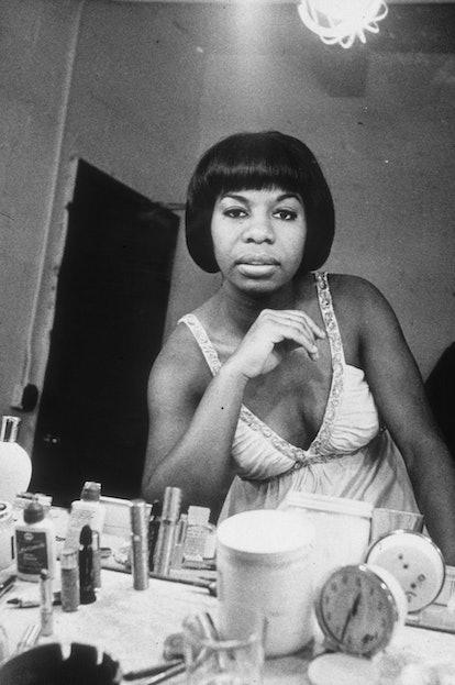 Nina Simone wore a variety of gorgeous hairstyles.