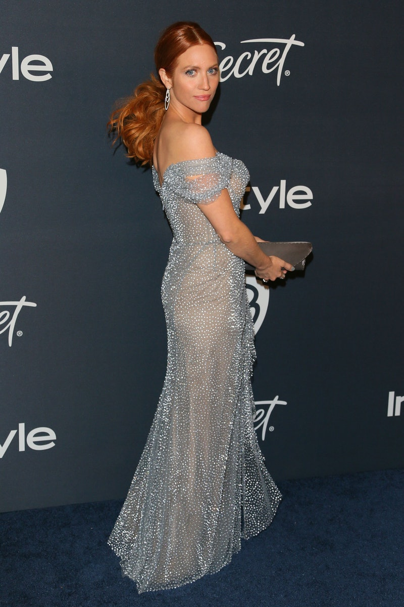 Celebs like Brittany Snow have gone red this year.