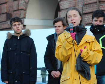 Greta Thunberg speaking in mic