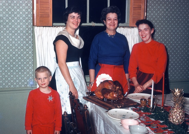 1960s family at Thanksgiving