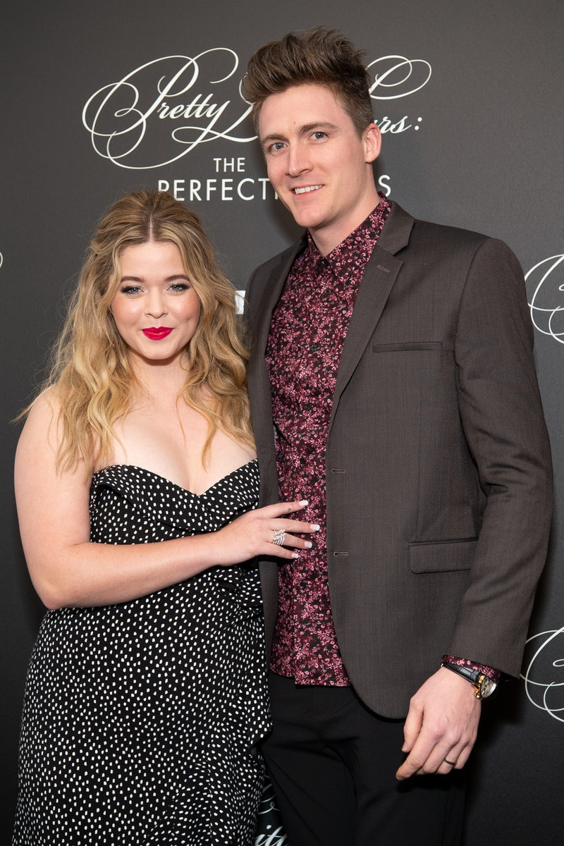Sasha Pieterse and Hudson Sheaffer at the 'Pretty Little Liars: The Perfectionists' premiere in 2019