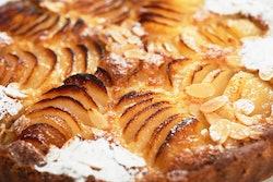a gorgeous apple tart dessert