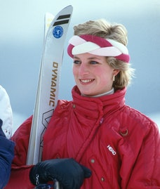 Princess Diana on a ski trip