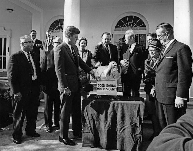 JFK pardoning the turkey.