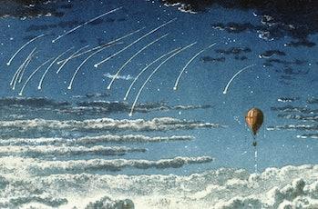 Leonid meteor shower illustration