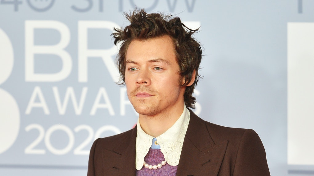 Harry Styles attends the 2020 Brit Awards.