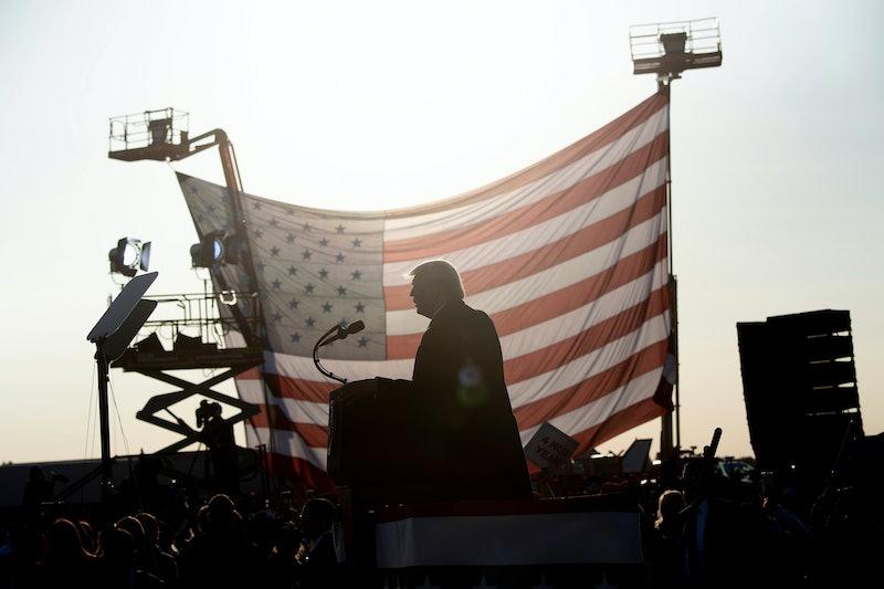 President Donald Trump in Bemidji, Minnesota