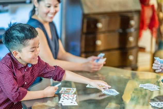 One game families can play on Thanksgiving doesn't require much is Go Fish.