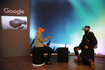 Google's Daydream View was a VR headset that a smartphone slots into.