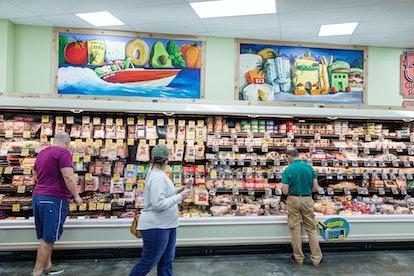 Trader Joe's aisle.